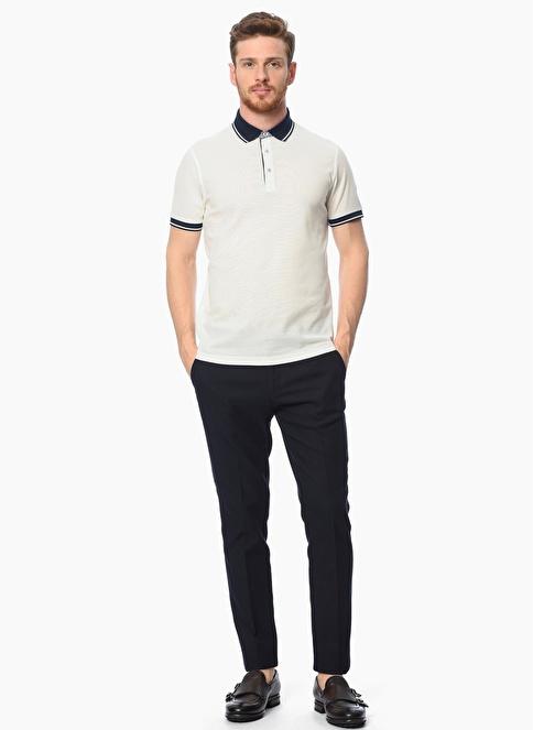 Network Polo Yaka Tişört Beyaz